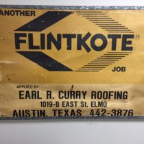 earl curry roofing sign for flintkote
